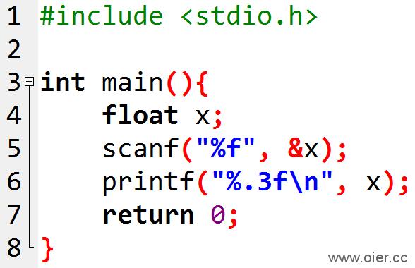 NOI1.1-04输出保留3位小数的浮点数