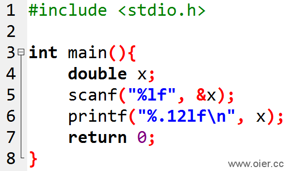 NOI1.1-05输出保留12位小数的浮点数