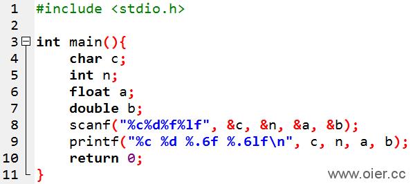 NOI1.1-06空格分隔输出