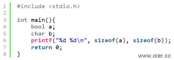 NOI1.2-03其他基本数据类型存储空间大小
