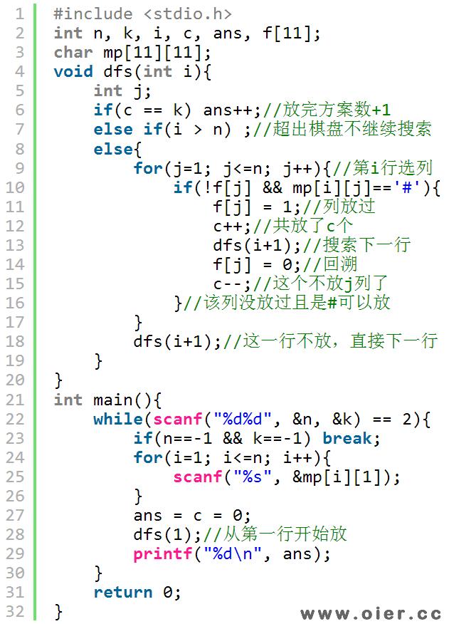 NOI2.5-323棋盘问题
