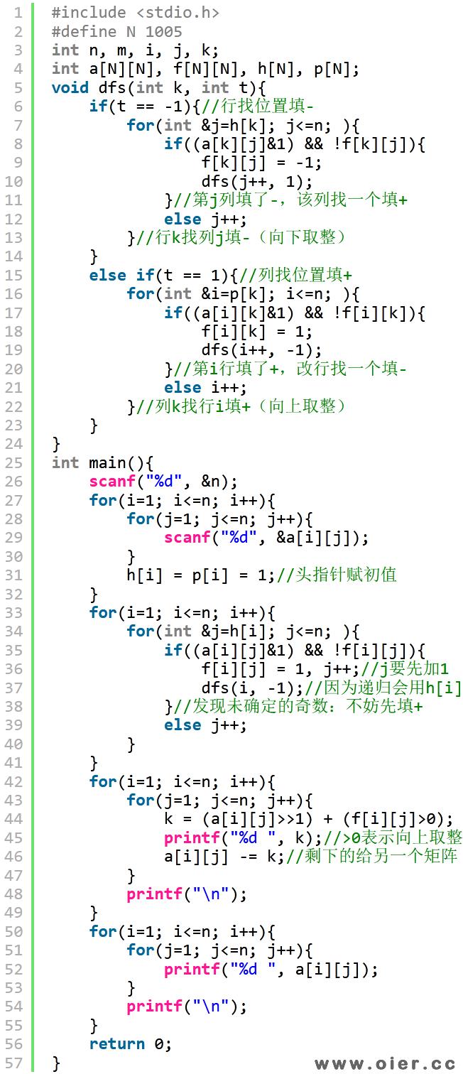 GDKOI2021普及组Day2D矩阵